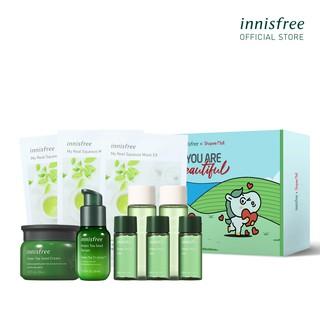 Bộ dưỡng ẩm và bảo vệ da trà xanh Innisfree Green Tea Seed Cream Set thumbnail