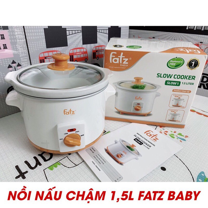Nồi Nấu Chậm 1,5L Fatz Baby Slow 1 FB9015MH