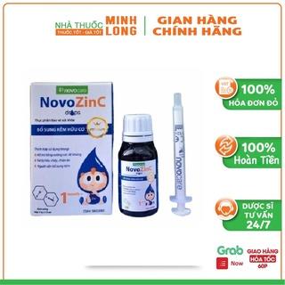 NovoZinC Drops bổ sung kẽm, hỗ trợ làm giảm triệu chứng Rối loạn tiêu hóa, tiêu chảy, chán ăn, chậm tiêu (lọ 15ml) thumbnail