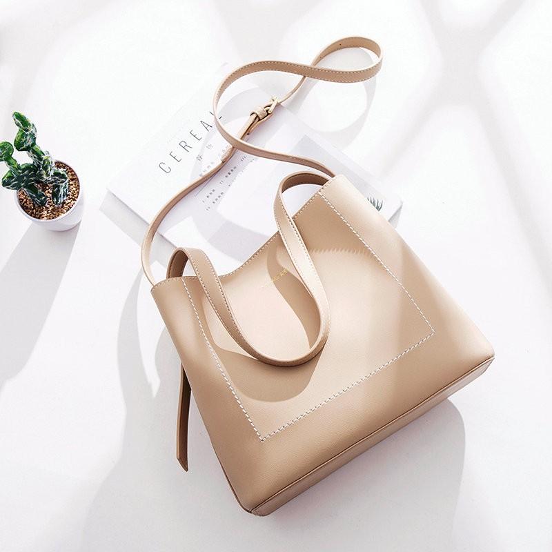 [Hàng L1 - có ảnh/video so sánh] Túi tote da đeo vai 2 dây công sở -P009