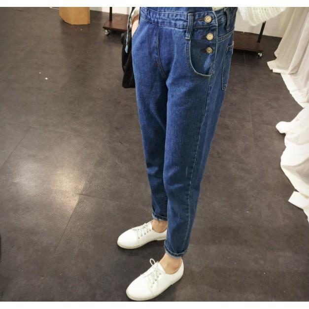 FREESHIP TỪ 50K - Quần yếm jean nữ thời trang - QNU19.0002BLU