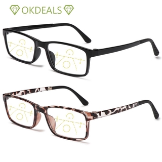 💎OKDEALS💎 Anti-fatigue Anti Blue Light Reading Glasses Radiation Protection Computer Goggles Progressive Presbyopic Eyewear Anti-UV Men Women Fashion Anti-blue Rays Retro Classic Multifocal Bifocal Eyeglasses black/brown/black