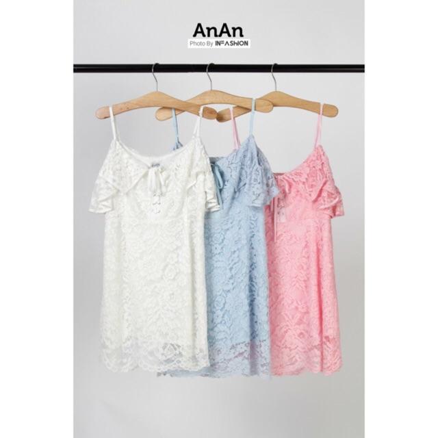 Đầm ren dây anan( hình thật)