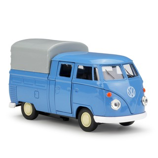 Welly 1:36 VW T1 Double Cabin Pick Up blue Diecast Model Car