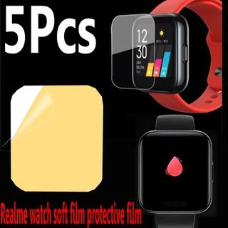 Set 5 Miếng Dán Tpu Chống Trầy Bảo Vệ Màn Hình Cho Đồng Hồ Realme Watch