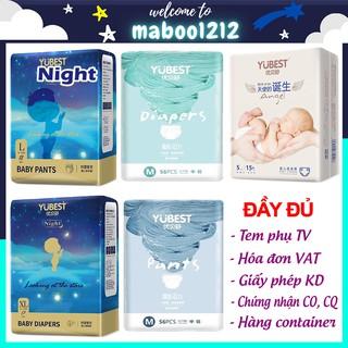 Bỉm Yubest 🍒FREESHIP🍒 Tã YUBEST Gold / Night / Angel / Natural / CAO CẤP quần/dán S132, S90, M108, M84, L96, L78