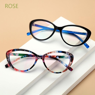 ROSE Women and Men Blue Light Blocking Glasses Vision Care Eyewear Computer Gaming Glasses Fashion Vintage Frame UV400 Protection Anti Eyestrain Goggles