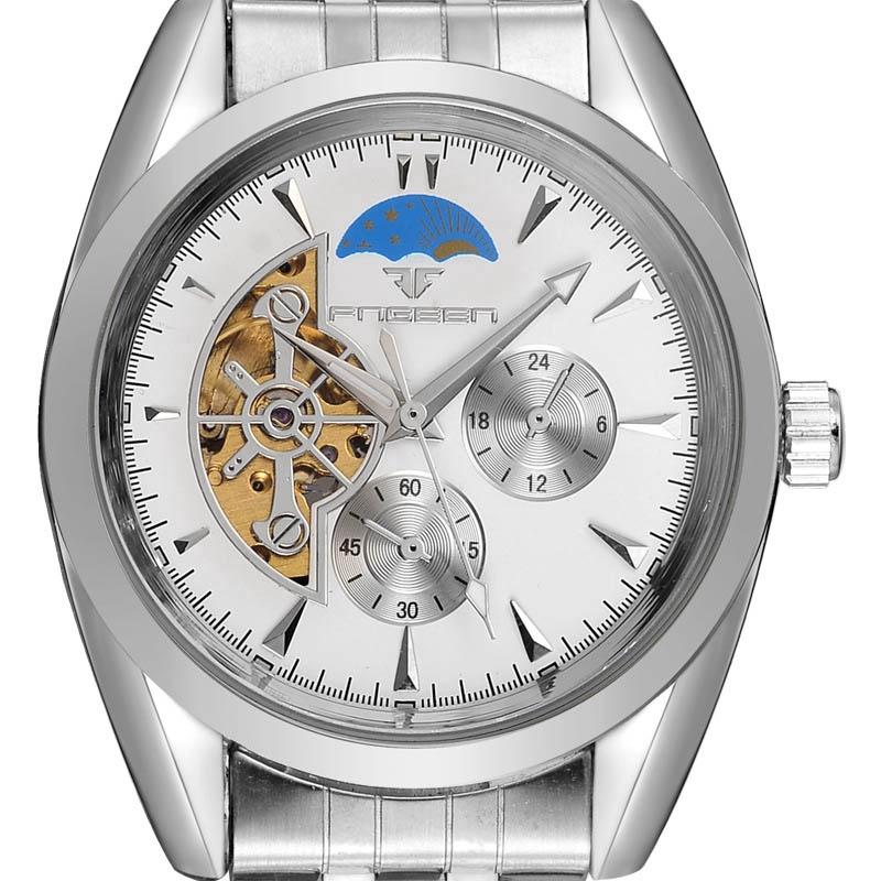 Man Hollow Automatic Watch Steel Strap Watch High-end Men Mechanical Watch