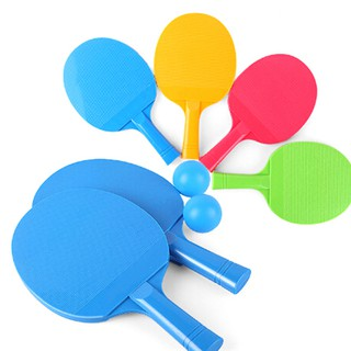 Outdoor Sports Kids Play Table Tennis Rackets Plastic Racket With 2Ball Ga