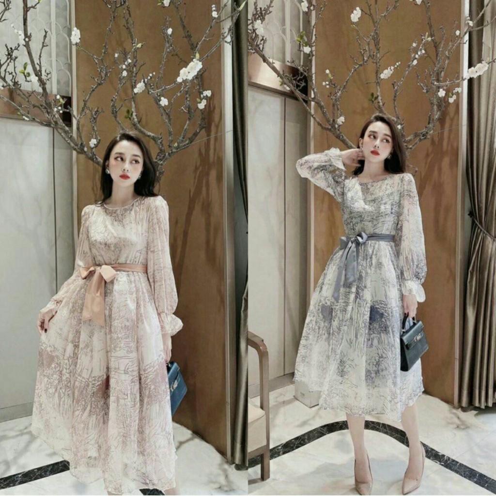 Váy bầu mùa hè 2020, đầm bầu công sở đẹp dáng chuẩn