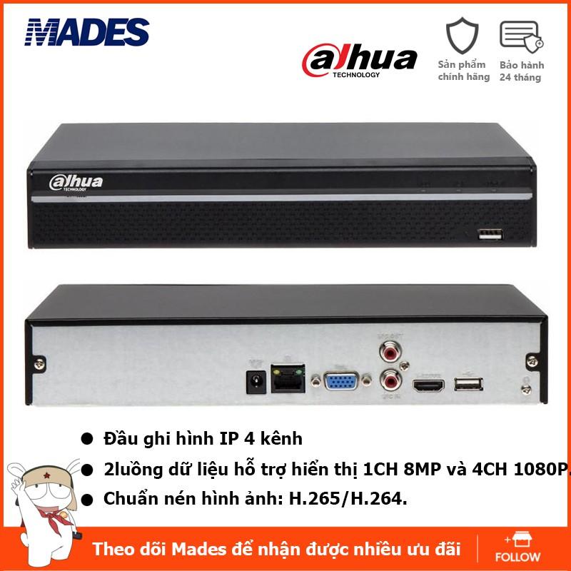 Đầu ghi hình camera IP 4 kênh DAHUA NVR2104HS-4KS2 Tem DSS