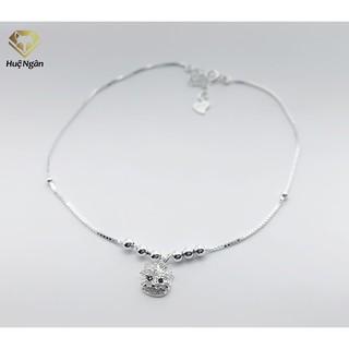 Lắc chân bạc Ý 925 Huệ Ngân -Mèo xinh RYBJ50062