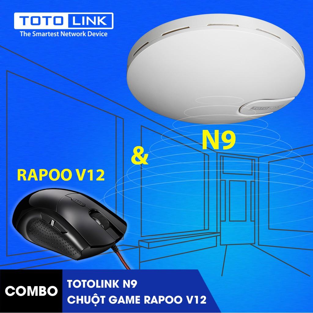 [FREESHIP] Bộ phát sóng Wifi Totolink N9 (Access Point TOTOLINK N9) kèm chuột game Rapoo V12