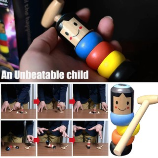 Creative Immortal Daruma Unbreakable Wooden Man Stage Magic Props simple Magic Toy for Beginner