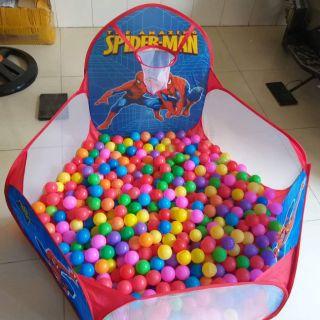 Lều bóng tặng kèm 100 bóng. Khách tùy chọn mẫu.