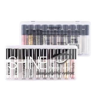 Bộ 10 bút kẻ mắt cho màu kim tuyến dạng gel lấp lánh hiệu HengFang #52270