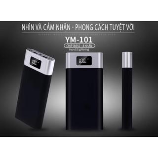 Pin Sạc Dự Phòng 20000mAh YM-101 Power bank Chuẩn dung lượng thumbnail