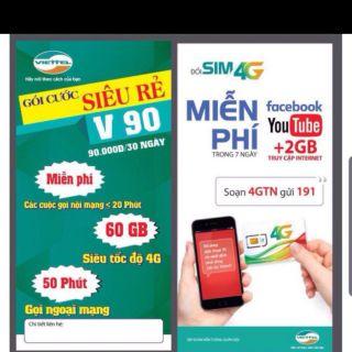 Sim v90 của mạng Viettel