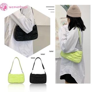 Túi xách xếp ly đơn giản màu trơn thời trang cho nữ