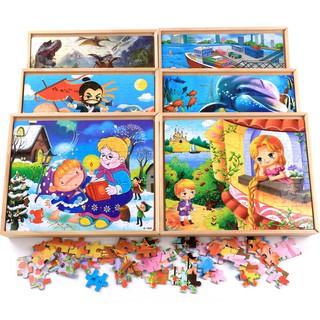 Bộ tranh ghép hình 40 60 80 100 mảnh bằng gỗ nhân tạo cho bé (4 trong 1) được chọn mẫu