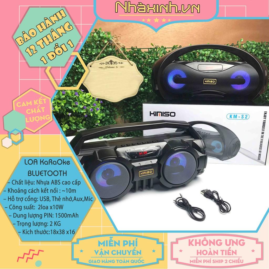 [Hàng Chính Hãng] Loa Bluetooth Karaoke, Loa Karaoke Xách Tay Tặng Kèm Mic - Bảo Hành 12 Tháng