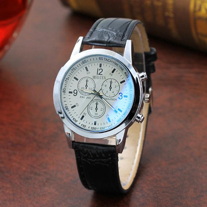 Đồng hồ dây da nam Modiya lịch lãm