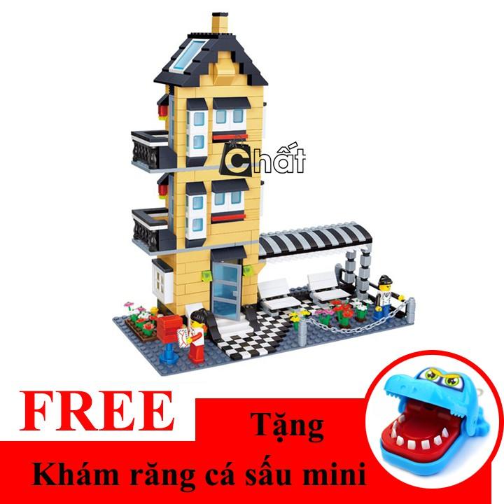 Bộ đồ chơi xếp hình nhà cao tầng 32053 + Tặng khám răng cá sấu mini - 2391908 , 1166966369 , 322_1166966369 , 345000 , Bo-do-choi-xep-hinh-nha-cao-tang-32053-Tang-kham-rang-ca-sau-mini-322_1166966369 , shopee.vn , Bộ đồ chơi xếp hình nhà cao tầng 32053 + Tặng khám răng cá sấu mini