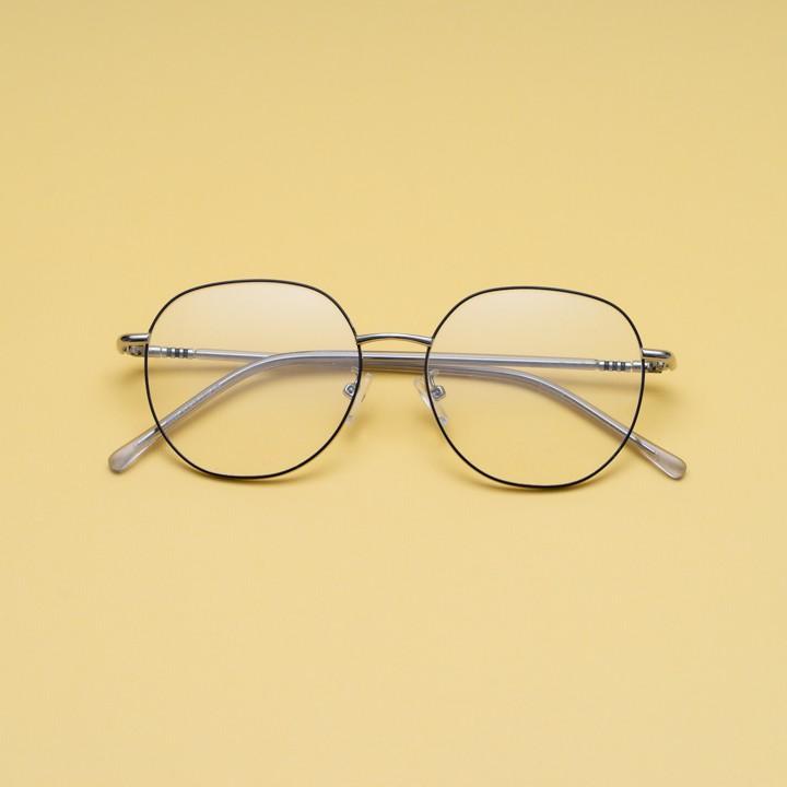 Gọng kính cận kim loại cho mặt trái xoan 4U, mắt vuông chống bụi hoặc lắp cận, màu đen và...