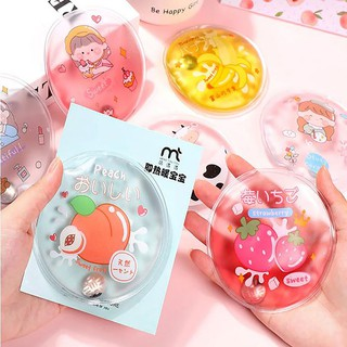 (BVT-COD)1Pcs Winter Reusable Gel Hand Warmer Cute Funny Word Print Instant Heating Pack