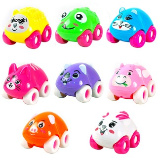 【HKM1】1Pc Colorful Magnetic Mini Cartoon Animal Car Intelligence Kids Toy Home Decor