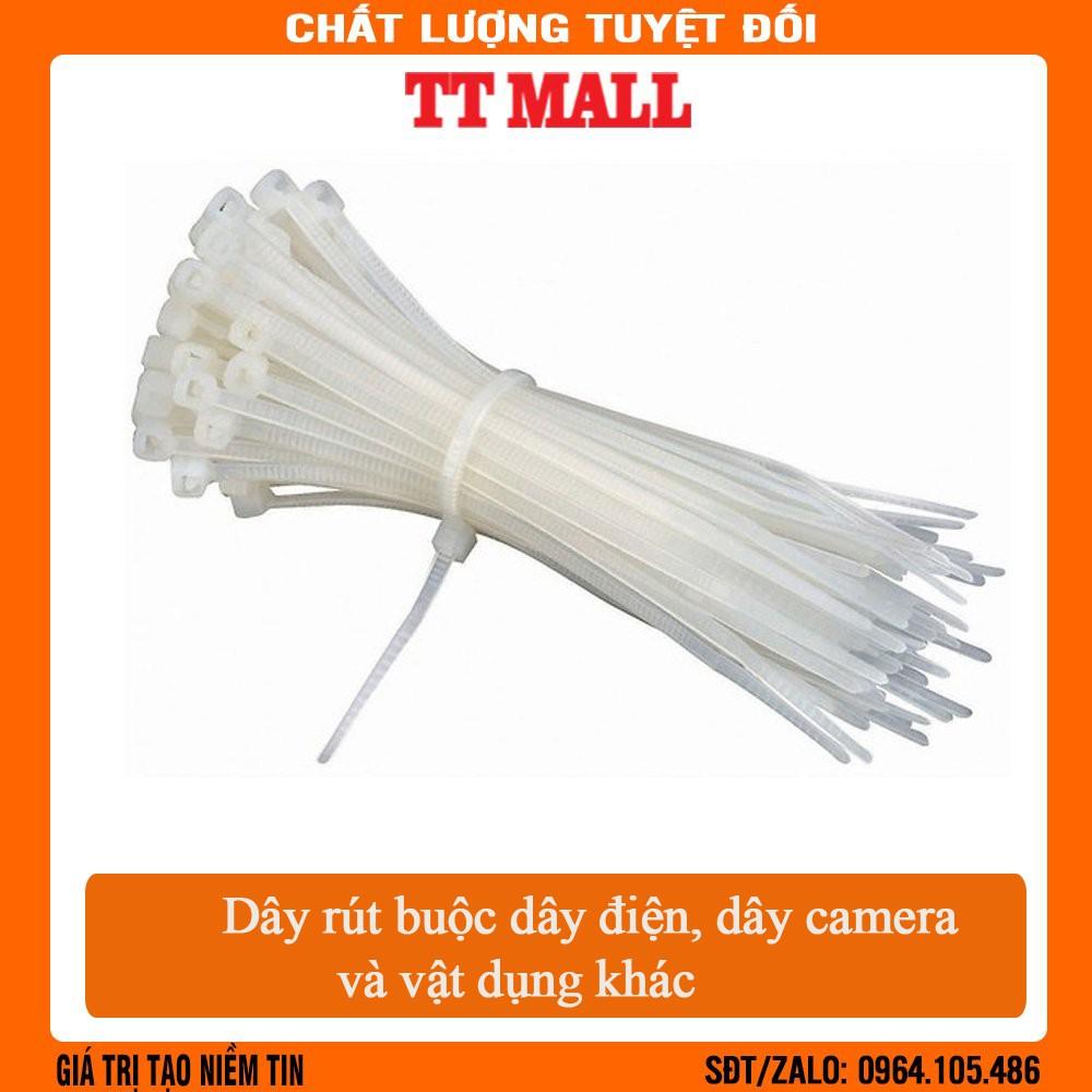 Túi 100 dây rút nhựa 20cm buộc dây camera, dây điện  và các vật dụng khác