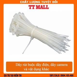 Túi 50 dây rút nhựa 20cm buộc dây camera, dây điện và các vật dụng khác