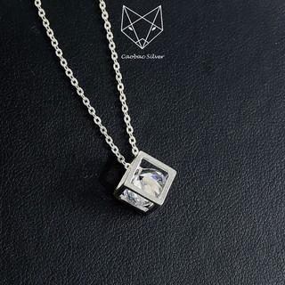 Dây Chuyền Bạc Ta S99 CaoBac Silver Mặt Hình Khối Lập Phương Dành Cho Nữ thumbnail