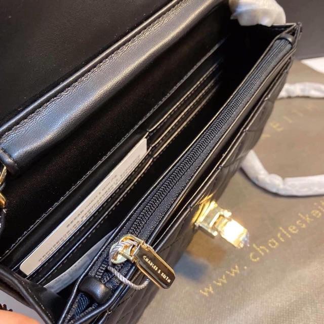 Túi trần ô trám khoá gập size 20cm hàng đẹp ảnh thật