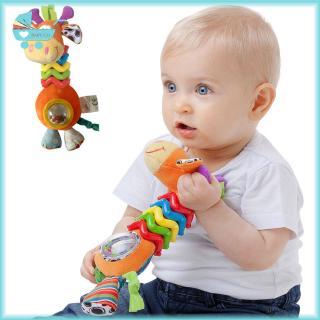 Baby Rattles Soft Plush Giraffe Doll Baby Hand Grabbing Shaking Toy Infant Teether Bite Rattle