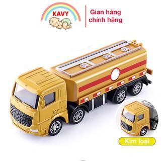 Đồ chơi mô hình xe chở dầu KAVY hợp kim sắt và nhựa an toàn, chi tiết sắc sảo kích thích giác quan của trẻ thumbnail