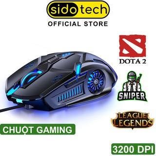Chuột gaming máy tính có dây game thủ SIDOTECH 3200DPI / Chế độ LED 7 màu / 6 nút bấm cho game thủ – Hàng Chính Hãng