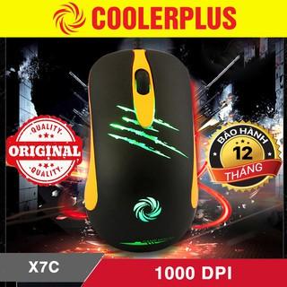 [Mã ELFLASH5 giảm 20K đơn 50K] Chuột gaming Cooler Plus X7c chính hãng - Chuột chơi game Cooler Plus X7c led xanh G90