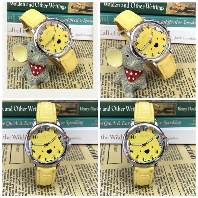 สายรัดข้อมือ นาฬิกาเด็ก นาฬิก นาฬิกาแฟชั่น Winnie the Pooh Kids นาฬิกาข้อมือสายหนัง watch fashion