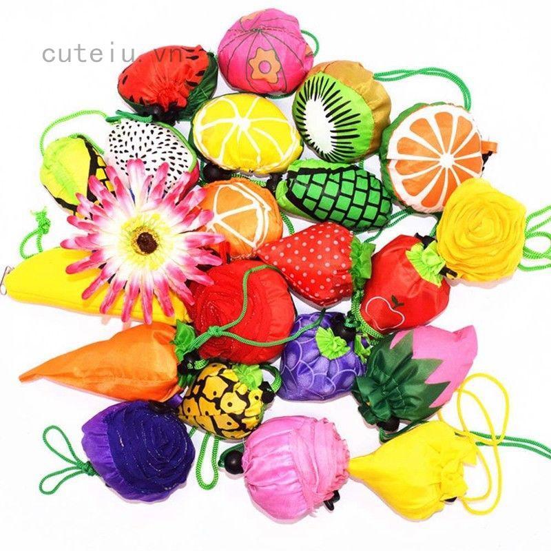 Túi mua sắm đa dụng hình dạng trái cây độc đáo có thể tái sử dụng