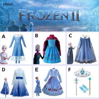Đầm công chúa Elsa cho bé gái hóa trang 2-12 tuổi