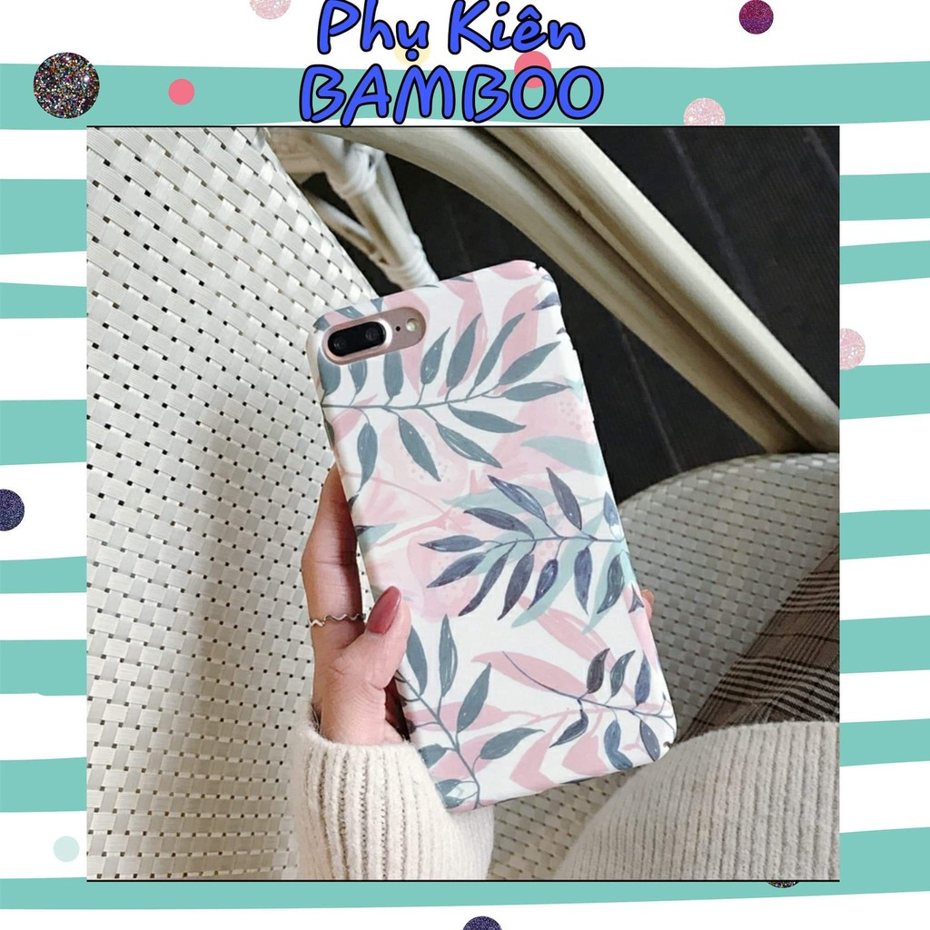 [IPHONE] Ốp lưng iphone LÁ XANH HỒNG 6/6s/7/8/7 plus/8 Plus/X/Xs/Xsmax/ 11/11 Pro max - BamBoo Shop