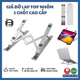 Giá đỡ laptop, macbook, ipad bằng NHÔM CAO CẤP - LOẠI 2 CHỐT, kệ đỡ máy tính tản nhiệt, gấp gọn, chịu lực siêu tốt thumbnail
