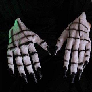 🌱Discount🌱 Halloween Skeleton Gloves Human Skeleton Creepy Terrible