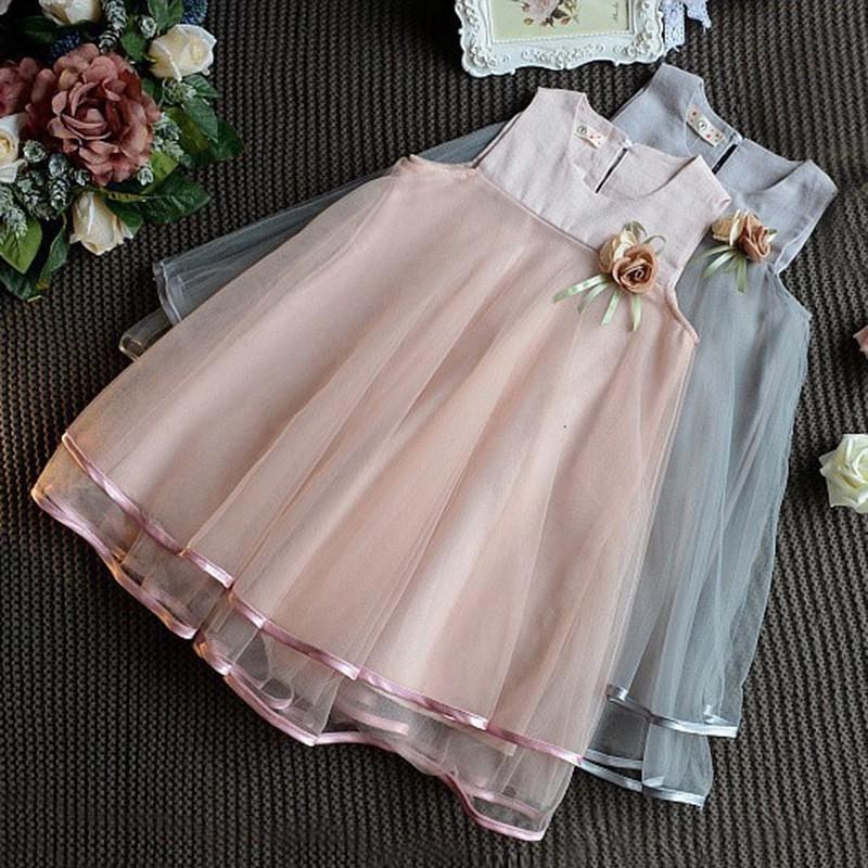 1297727630 - đầm xoè tutu hoạ tiết hoa phong cách công chúa cho bé