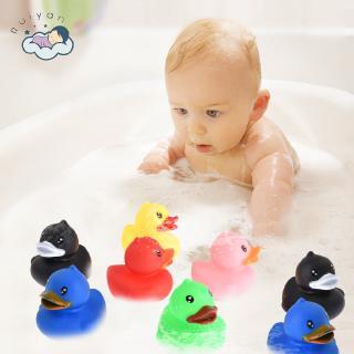 ( •̀ ω •́ )✧RY 6PCS Baby Toys Baby Swimming Bathing Small Yellow Duck