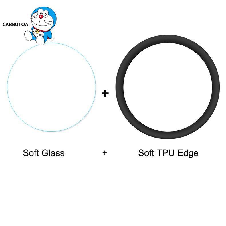 Kính Cường Lực Viền Tpu Mềm Bảo Vệ Màn Hình Cong 3d Cho Đồng Hồ Samsung Galaxy Watch Active 2 44mm