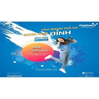 Bán Sim 4G Vina D60G 1 năm- 720Gb (2Gb/ngày) +18000 phút nội mạng + 600 phút liên mạng