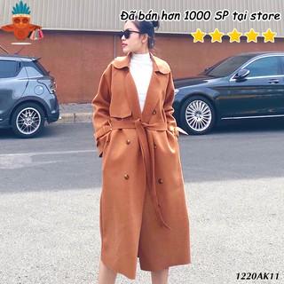Áo khoác măng tô nữ chuẩn style Hàn Quốc THOCA HOUSE thời trang freesize phù hợp sử dụng mùa lạnh thumbnail