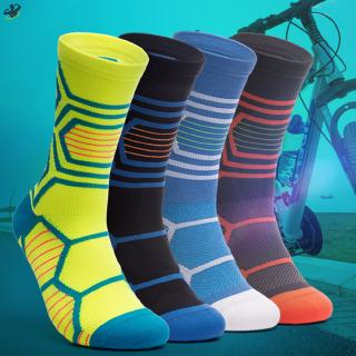 LL 1 Pair Unisex Cycling Socks Breathable Shock Absorption Toe Protective for Sports @VN